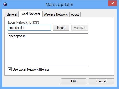 Local network filtering